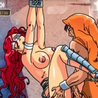 Взятая В Плен Телочка Получает Секс В Эксклюзивной Порно Игре Девушка В Темнице